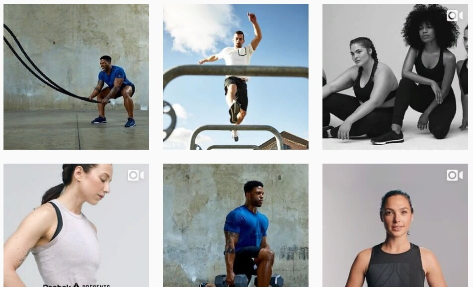люди в удобной одежде и обуви спортивного бренда