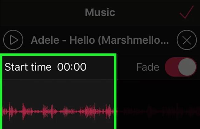 Укажите время начала аудио