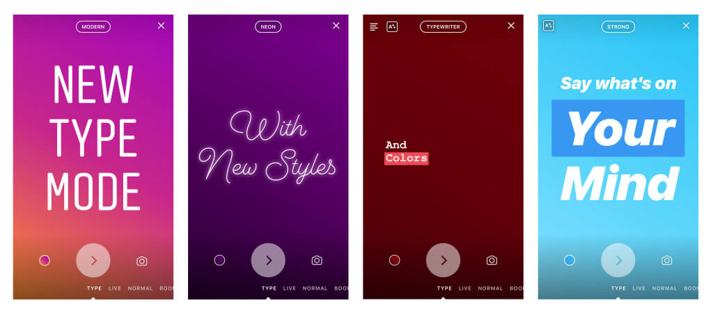 Instagram добавил новый текстовый режим в сторис