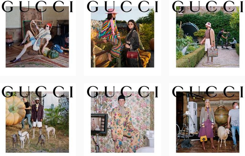 Компания gucci в Инстаграм