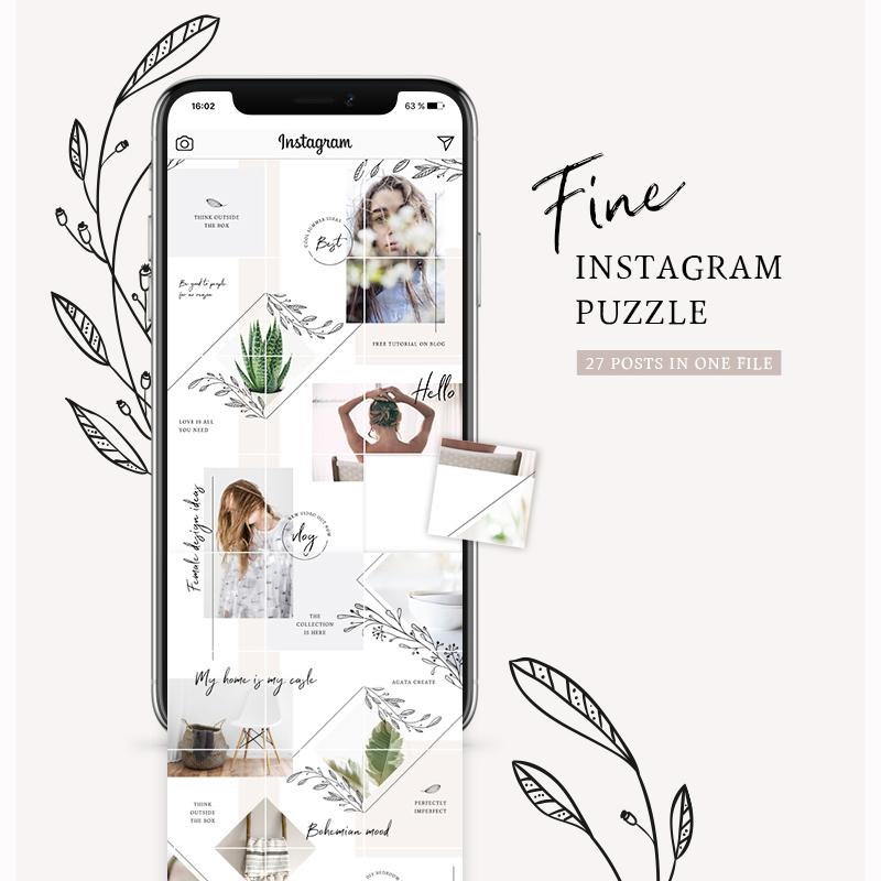 Шаблон для соцсетей Fine Instagram Puzzle