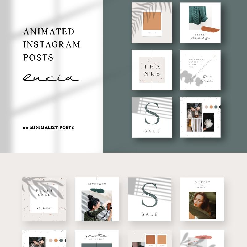 Шаблон для соцсетей Lucia — Instagram Posts