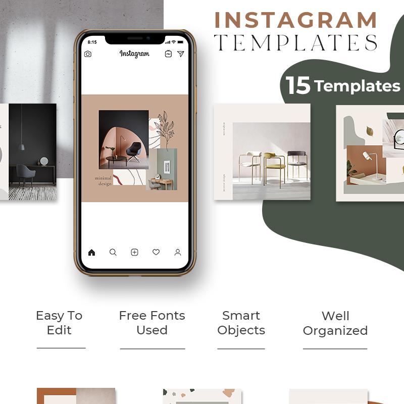 Шаблон для соцсетей Instagram Social Media
