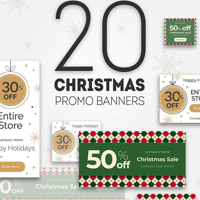 Бандл 20 Christmas Promo Banners