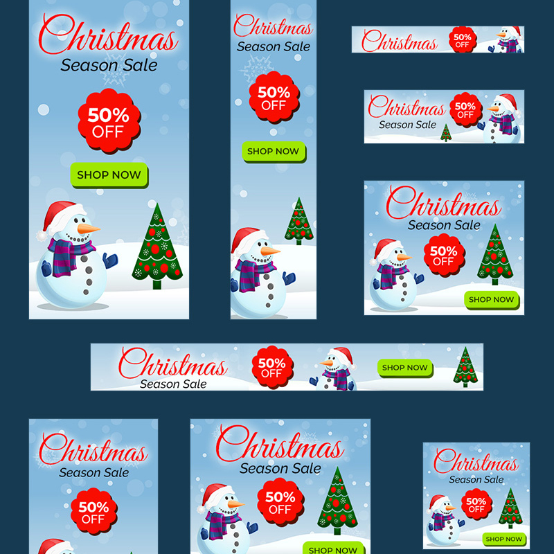 Christmas Sale Banners - 10 №74589