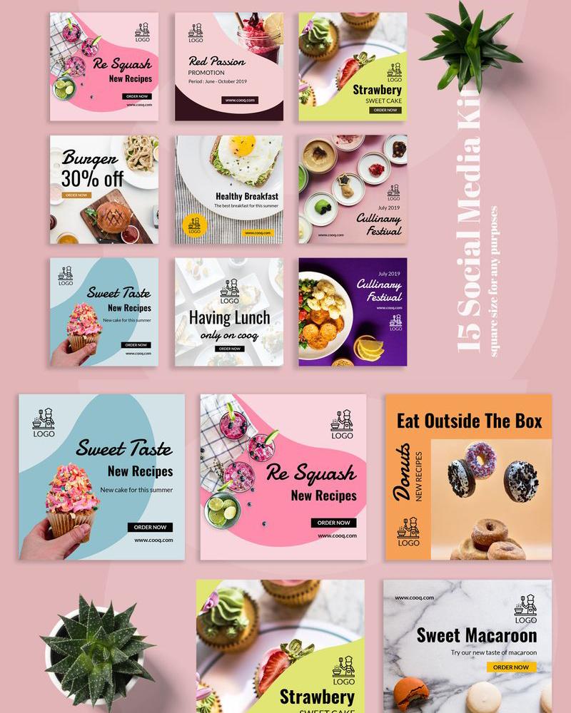 Шаблон для соцсетей Cooq - Food Instagram Post